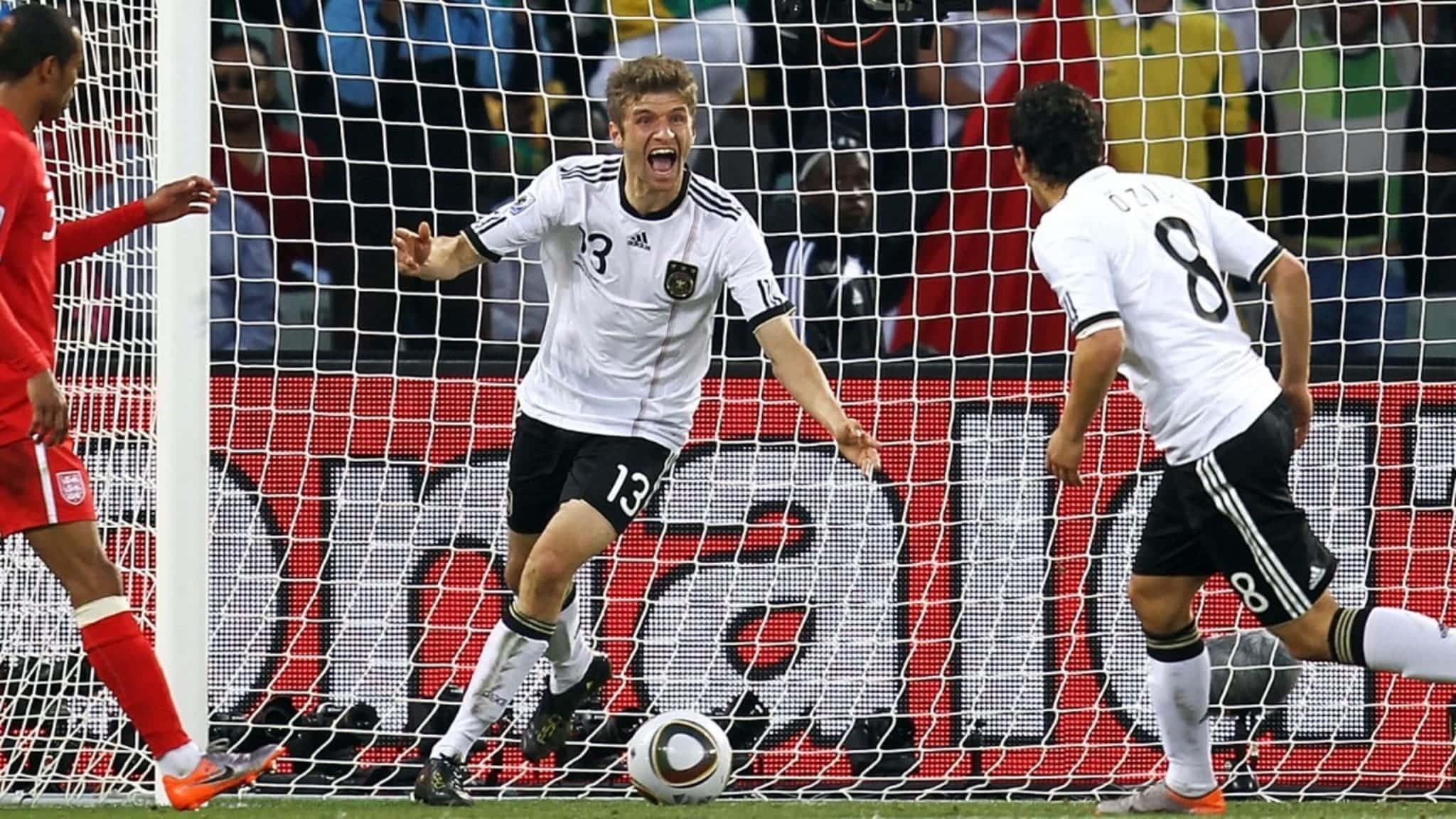 Copa Mundial de la FIFA 2010 ™ - Noticias - #WorldCupAtHome: Muller se amotina en la histórica victoria sobre Three Lions