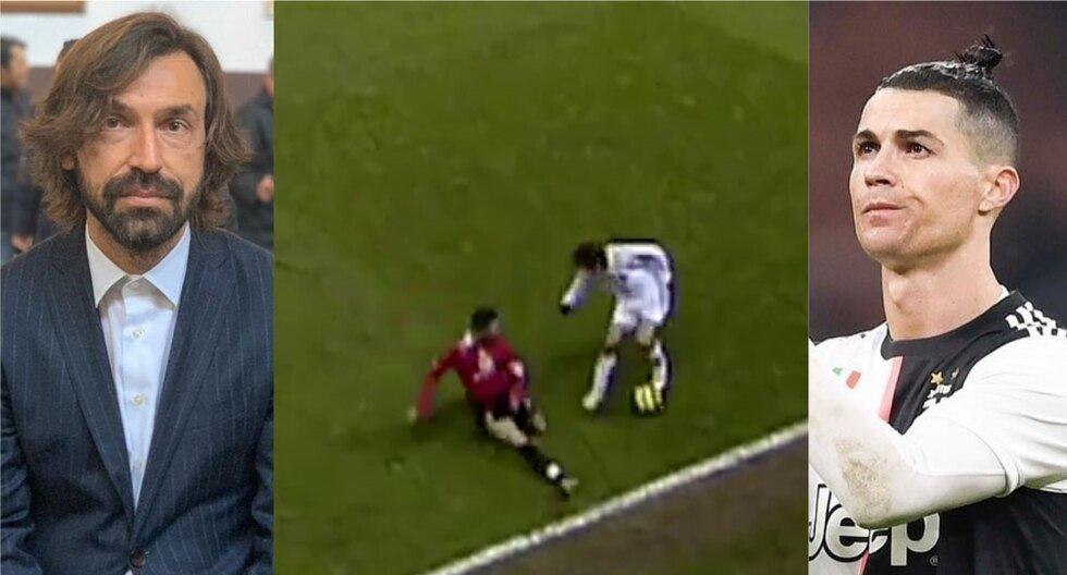 Andrea Pirlo y la vez que le dio una lección de buen fútbol a Cristiano Ronaldo Un video viral compartido por la UEFA Champions League revivió el momento en el que Pirlo dejó en el suelo a 'CR7' cuando el italiano jugaba por el AC Milan y el portugués, por el Manchester United.