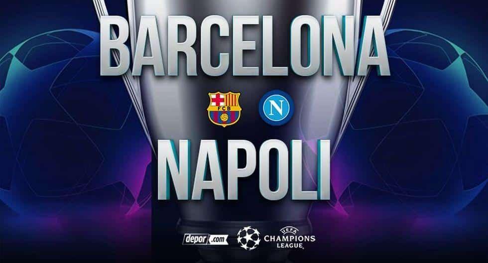 Gu U00eda De TV EN DIRECTO Barcelona Vs Napoli Canales Donde