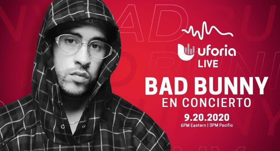 Bad Bunny En Concierto EN VIVO ONLINE por YouTube: como ver y horarios de la presentación virtual del cantante