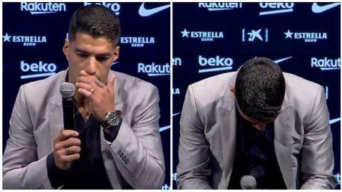 Suárez LLORANDO se despide del Barça