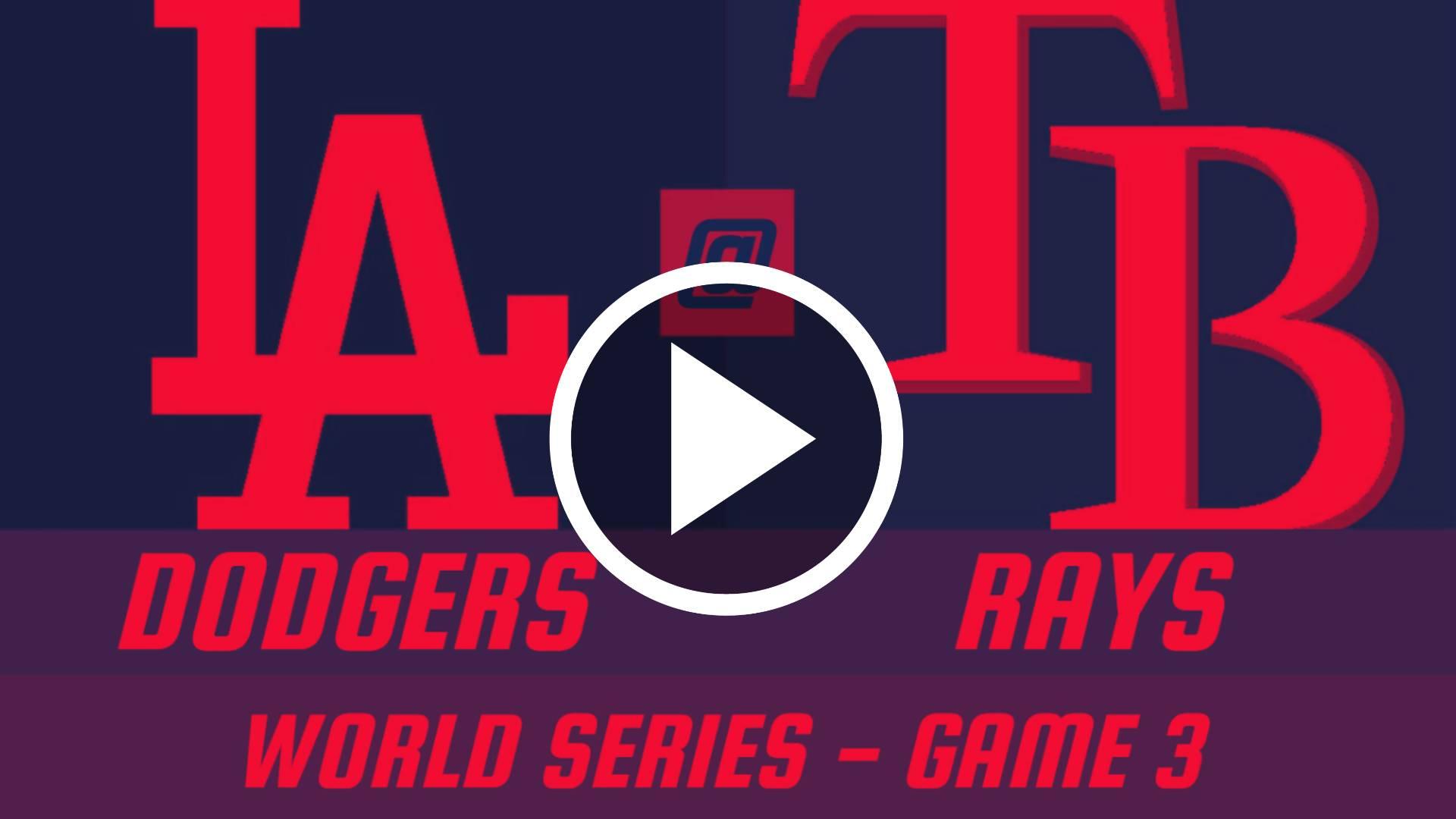Serie Mundial 2020 en vivo gratis: Transmisión en vivo de Dodgers vs Rays JUEGO 3