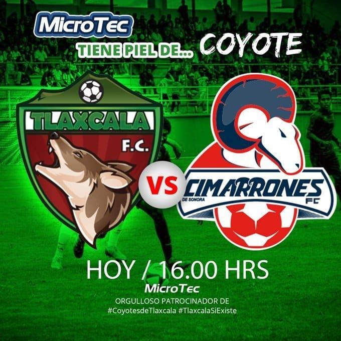 Tlaxcala 2 vs 1 Cimarrones por la Liga de