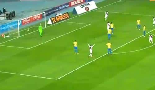 Video Repeticion Gol Andre Carrillo Peru vs Brasil 1 0 Eliminatorias