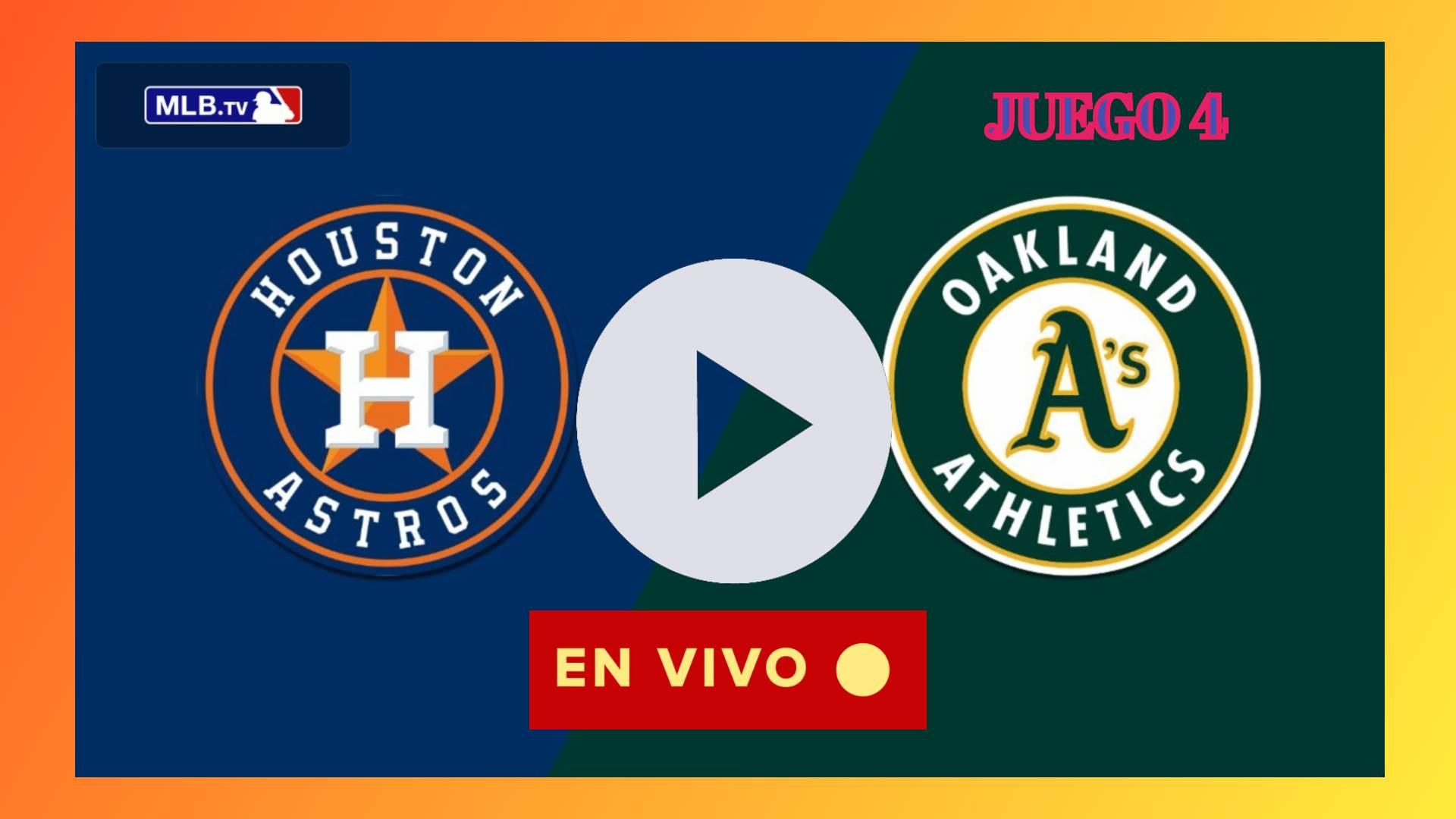 Astros vs. Athletics juego 4