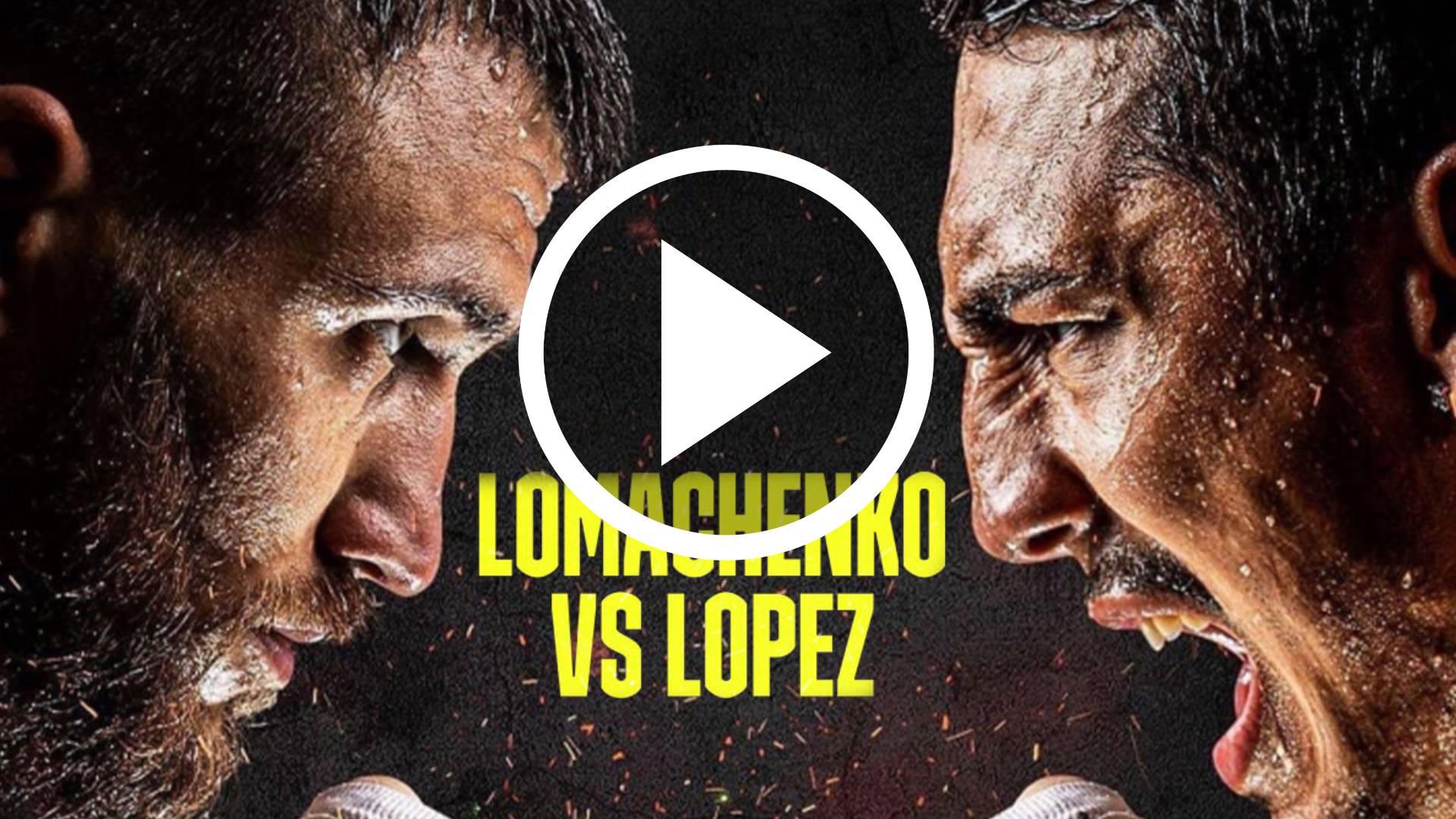 AHORA EN VIVO Vasyl Lomachenko vs Teófimo López