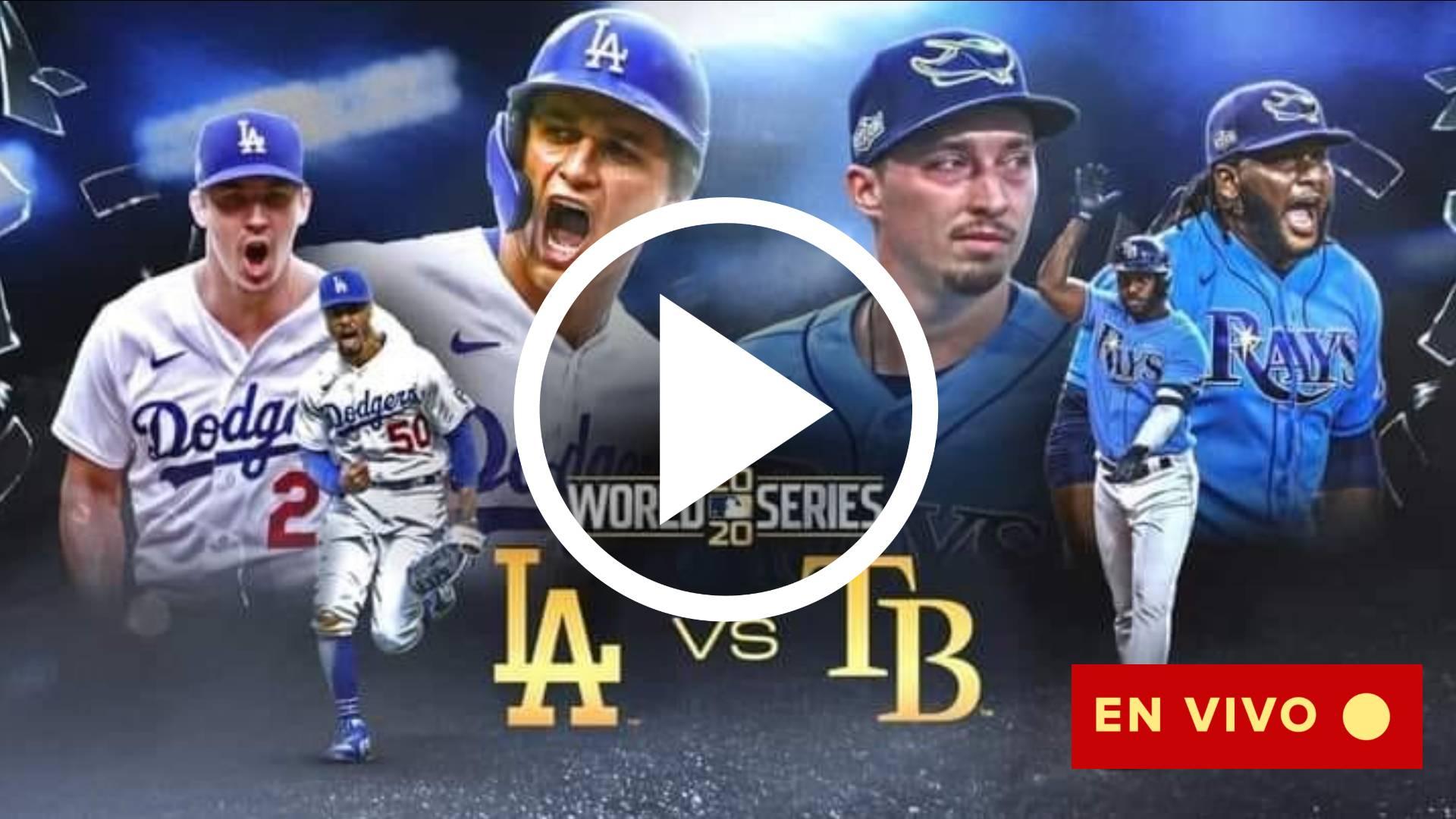 VER AQUI Serie Mundial 2020 MLB EN VIVO TV GRATIS: Cómo ver a los Tampa Bay Rays vs. Los Angeles Dodgers