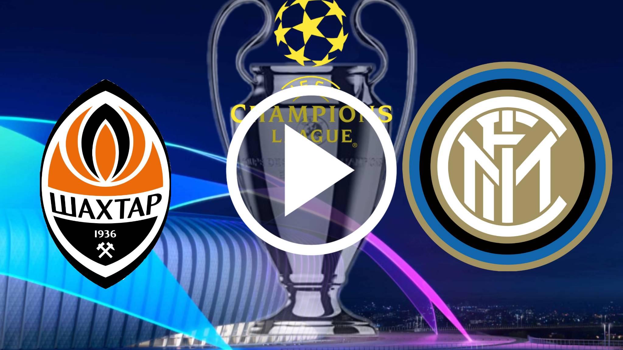 AQUI EN VIVO GRATIS ONLINE Shakhtar Donetsk vs Inter Milan POR LA UEFA Champions League 20-21