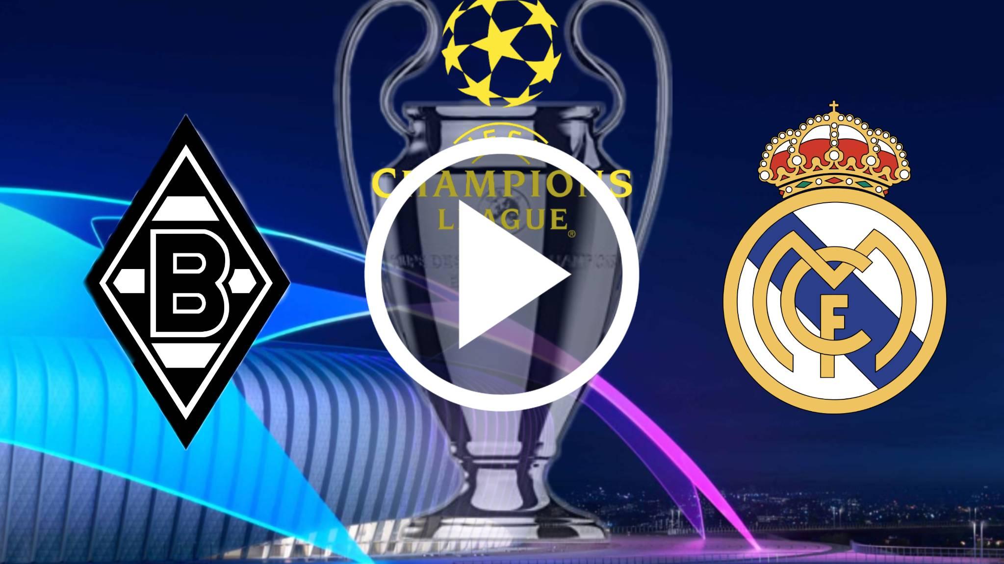 AQUI NO TE PIERDAS SIN CORTES Borussia Mönchengladbach vs Real Madrid ONLINE EN VIVO  PRO LA la UEFA Champions League 20-21