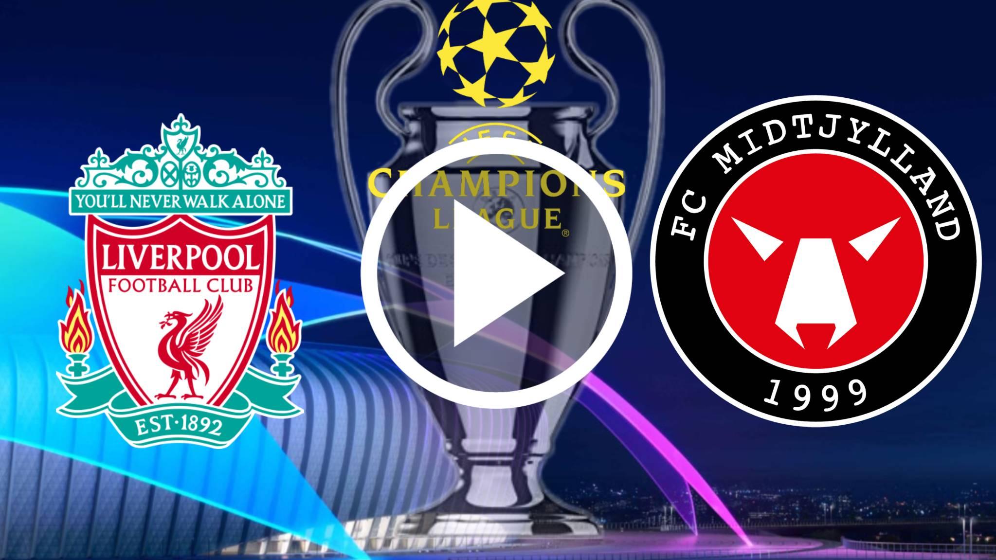 Transmisión en vivo del Liverpool vs Midtjylland