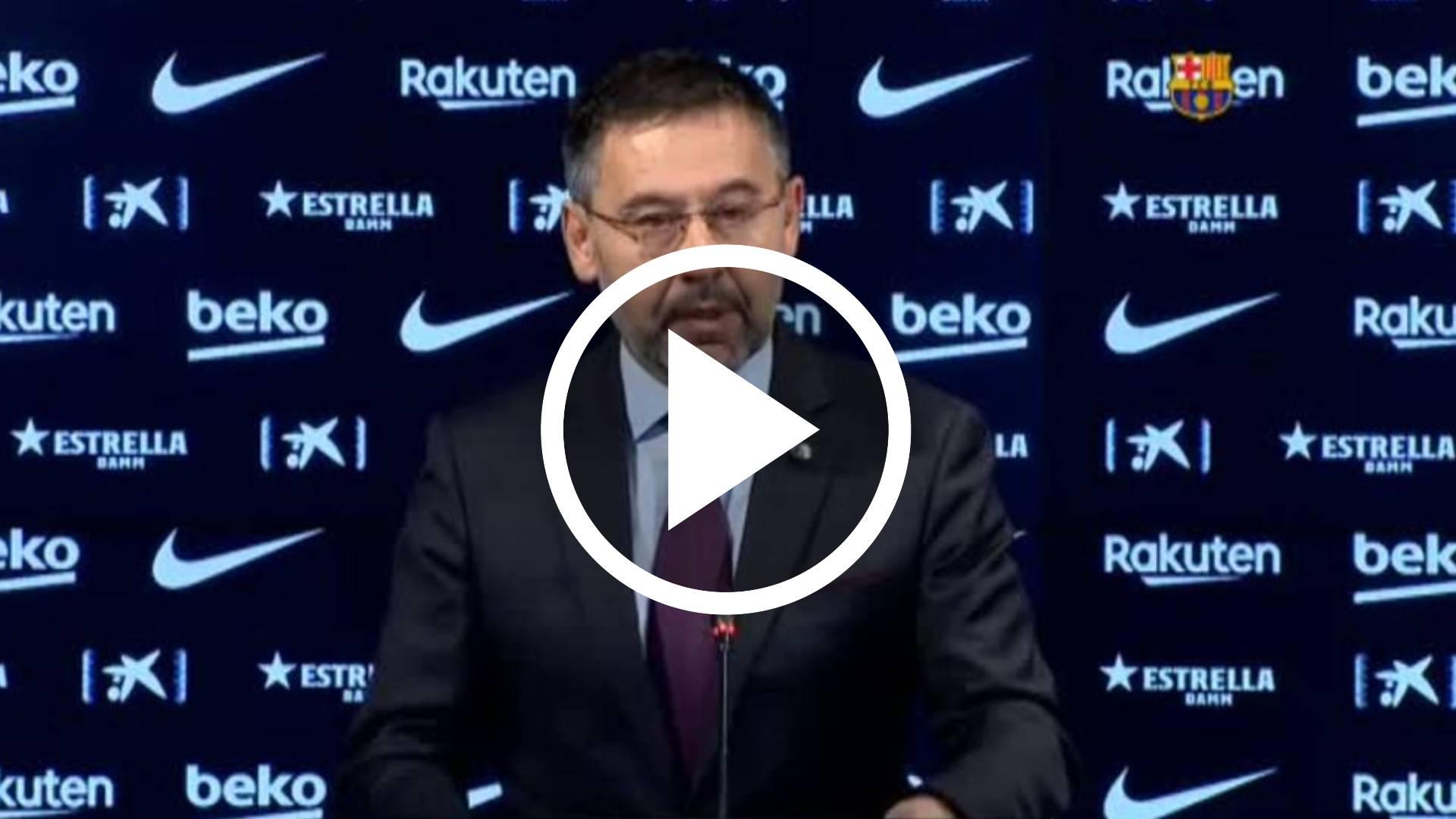 Josep Maria Bartomeu dimite como presidente del Barcelona
