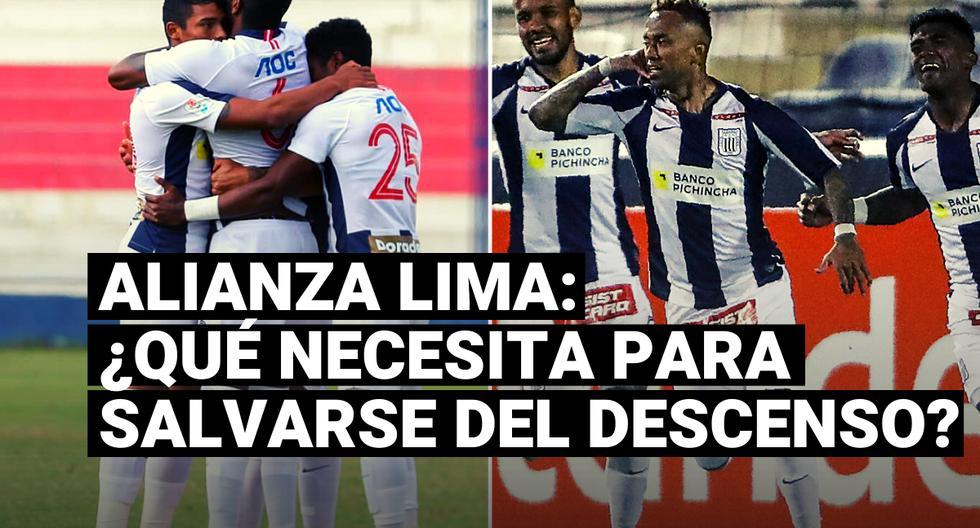 Que necesita Alianza Lima para salvarse del descenso de la