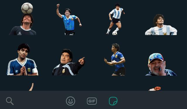 stickers de Maradona GARTIS