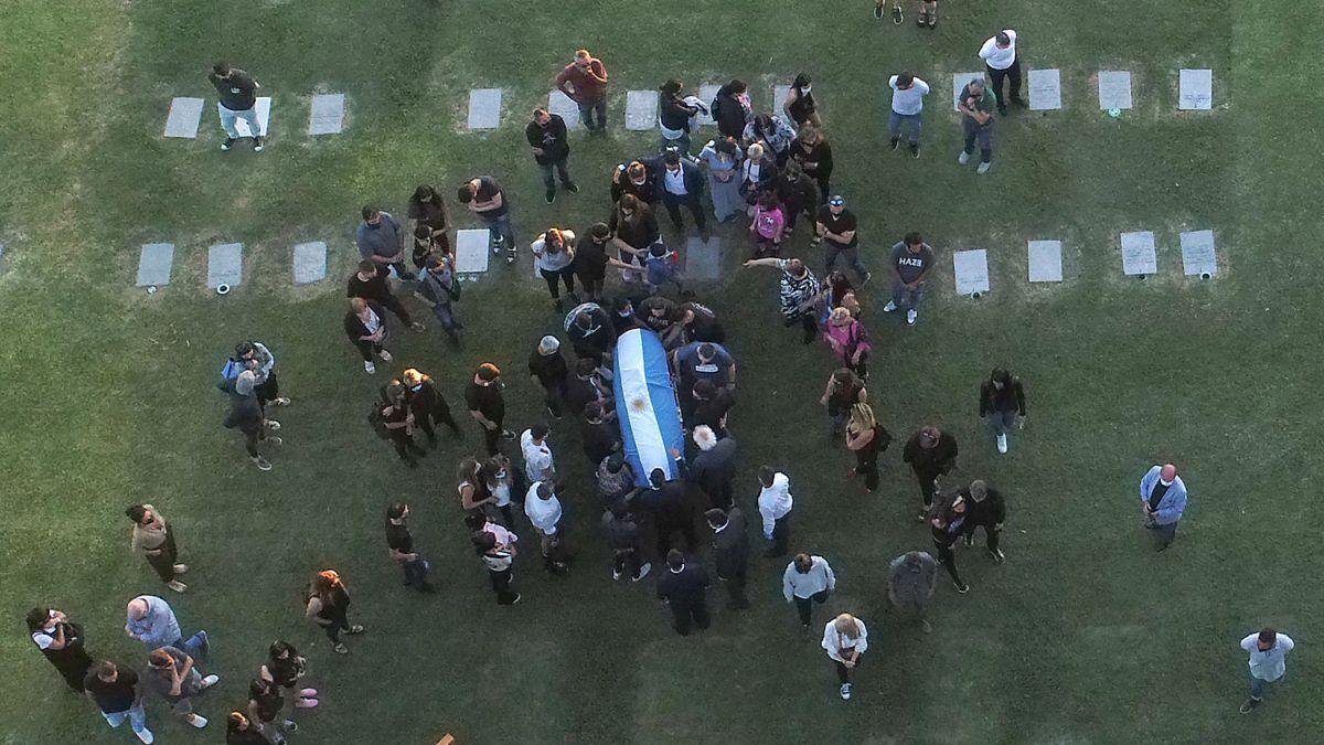 El entierro de Maradona