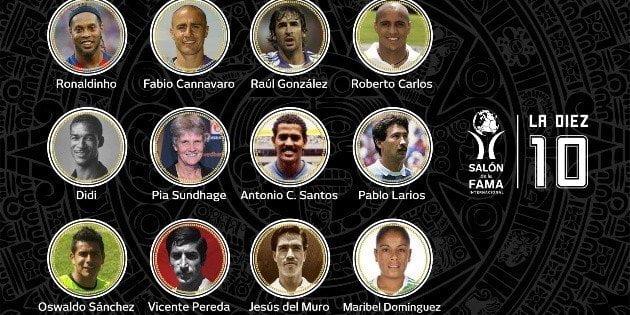 Salon de la Fama Ronaldinho Roberto Carlos Oswaldo Sanchez y