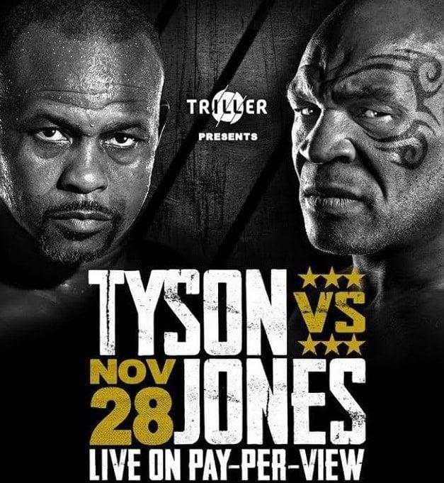 Tyson vs Jones fight Match 28 Nov
