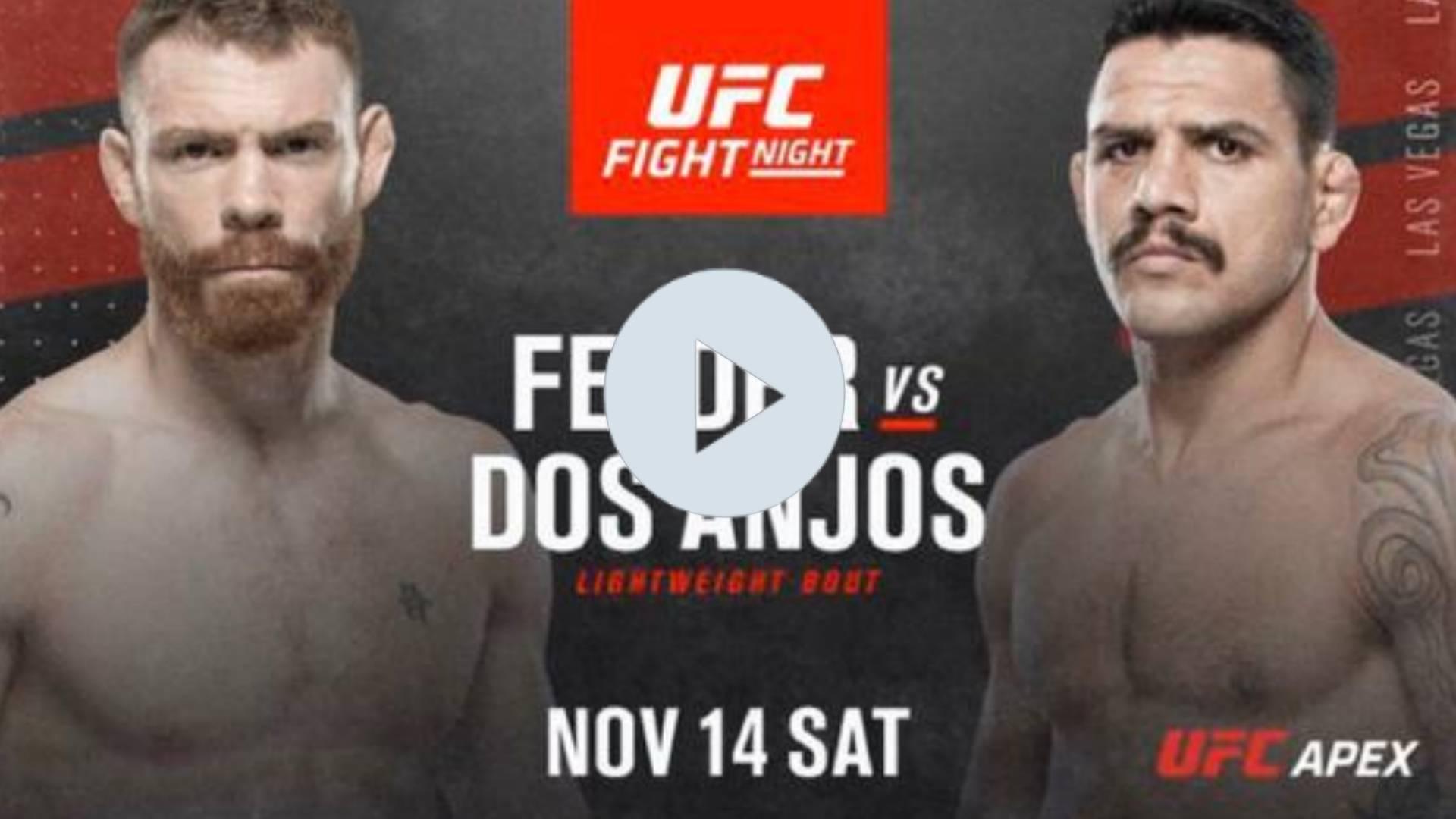 UFC Fight Night EN VIVO: EN VIVO AQUI Felder vs. Dos Anjos