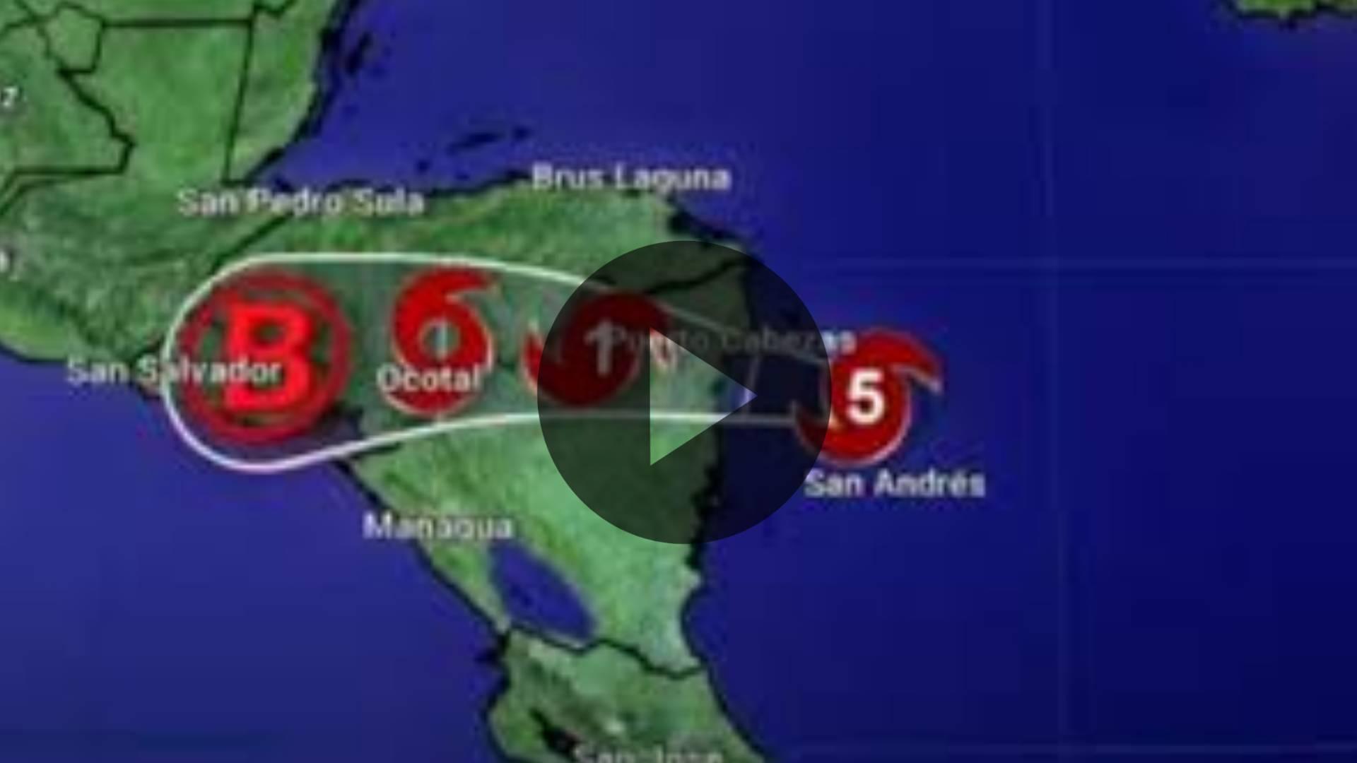 Monitoreo Huracán IOTA en Tiempo Real