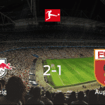 El RB Leipzig suma tres puntos más frente al FC Augsburg (2-1)
