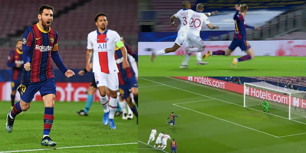 Messi con un tremendo bombazo cambio por gol el penal