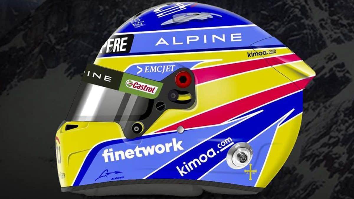 Fernando Alonso presenta su casco para este ano