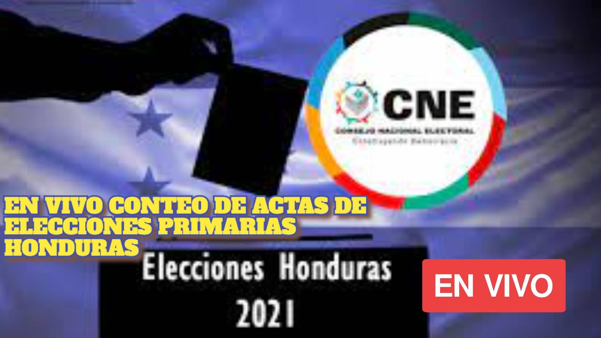 EN VIVO CONTEO DE ACTAS DE ELECCIONES PRIMARIAS HONDURAS