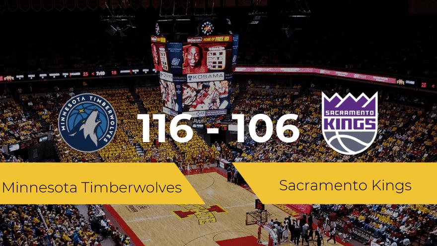 Minnesota Timberwolves se hace con la victoria contra Sacramento Kings