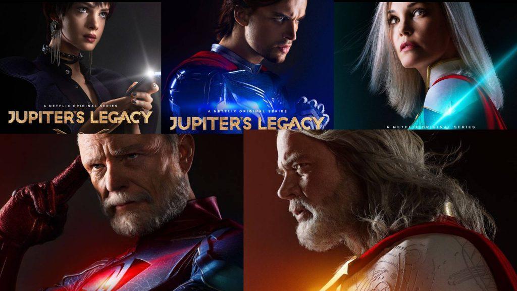 MIRA; los personajes de El Legado de Jupiter o Jupiter's Legacy expuesto antes de su estreno el 7 de mayo