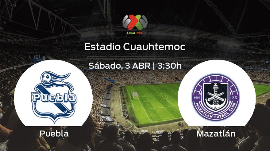 el Puebla recibe al Mazatlan en la decimotercera jornada