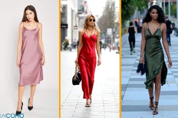 Como usar un slip dress o vestido lencero