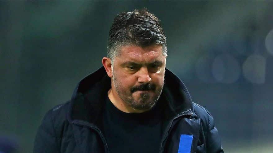 El Napoles despide a Gattuso tras quedar fuera de Champions