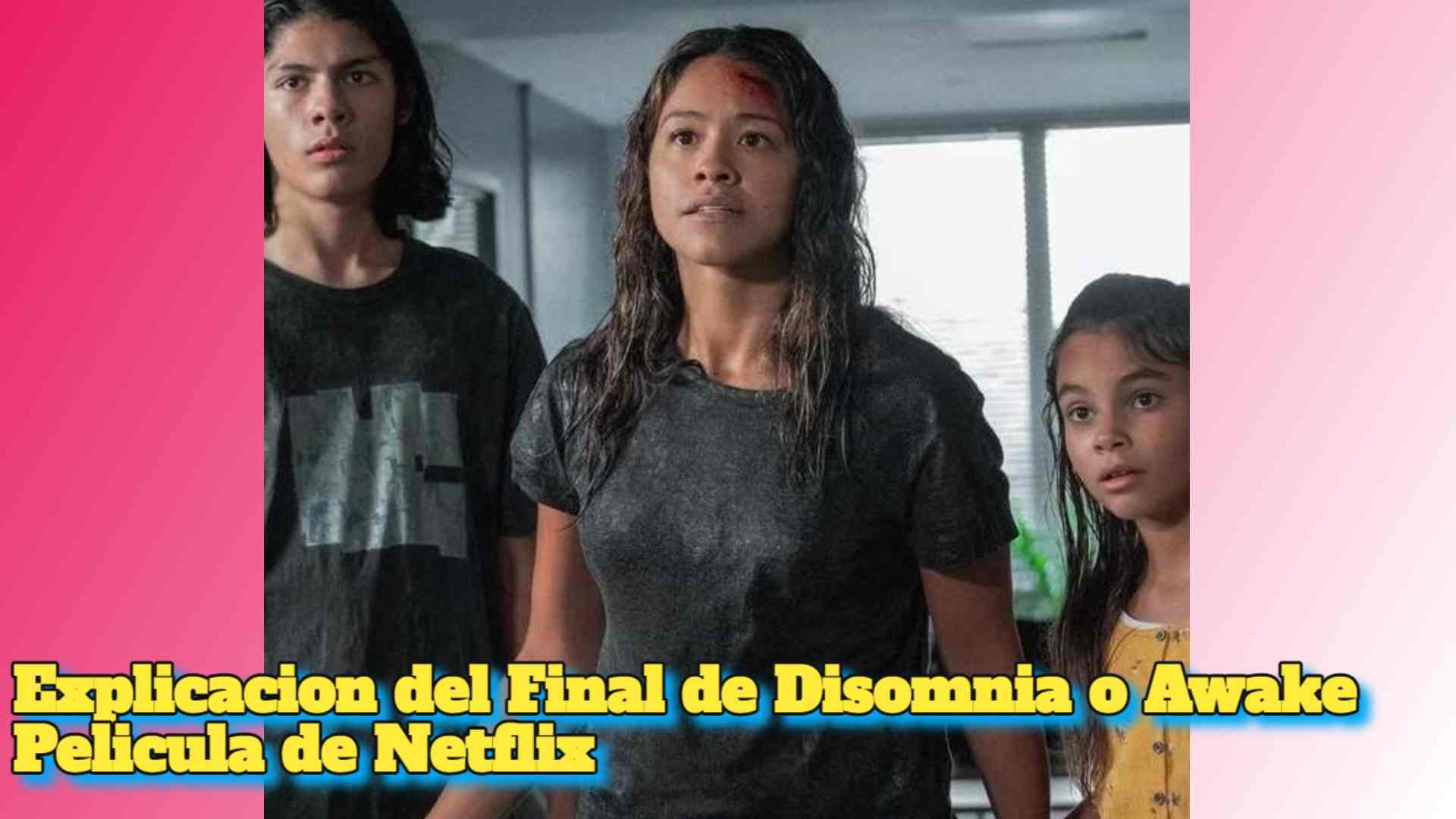 Explicacion del Final de Disomnia o Awake Pelicula de Netflix