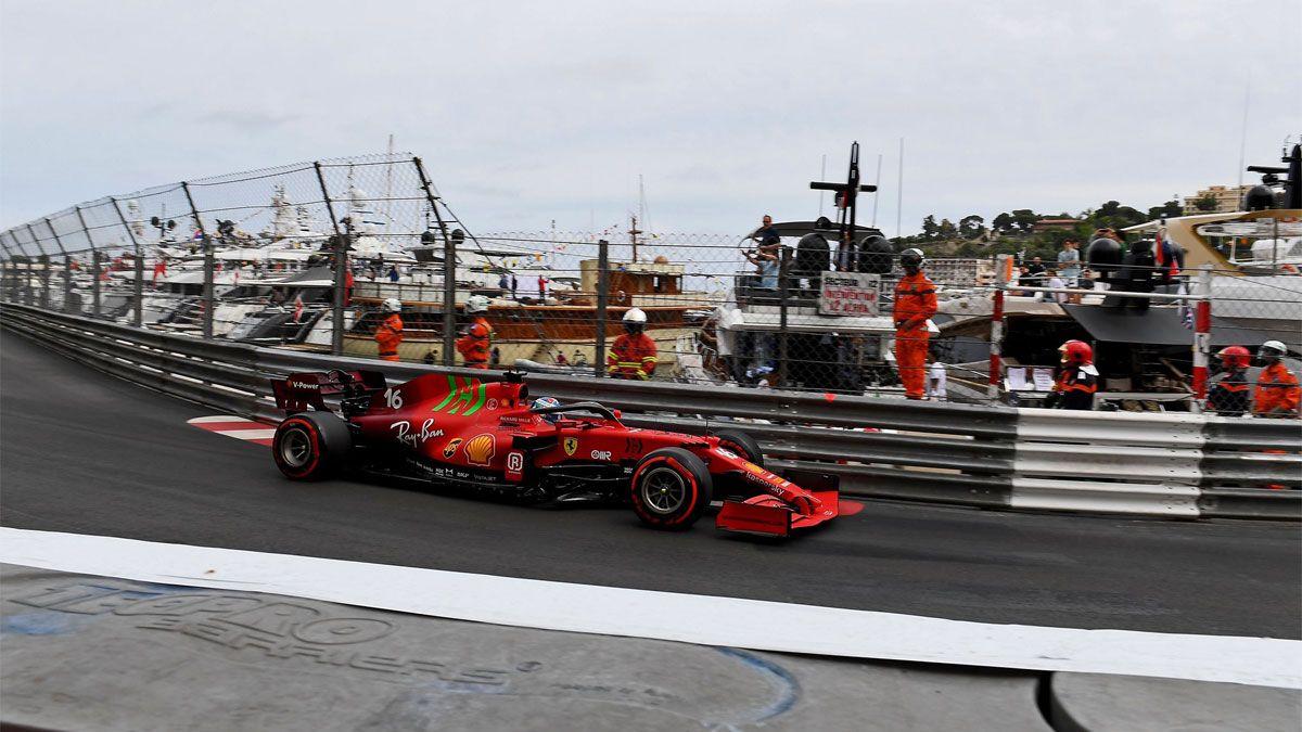 Leclerc pole y accidente en Monaco