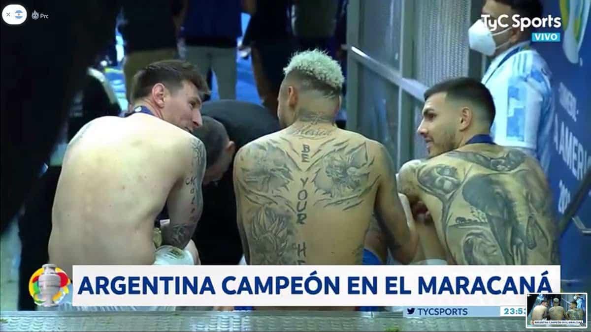Revelado Paredes conto que se dijeron Messi y Neymar despues
