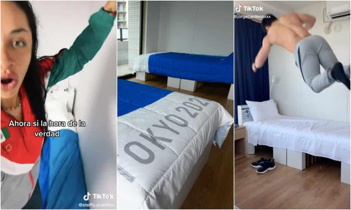 atletas ponen a prueba camas villa olimpica