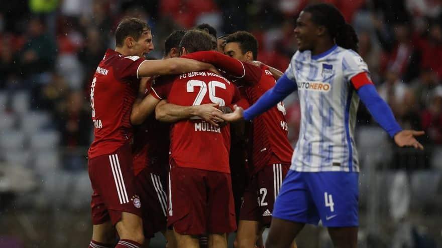 Resumen y goles del Bayern Hertha 5 0 partido de la jornada