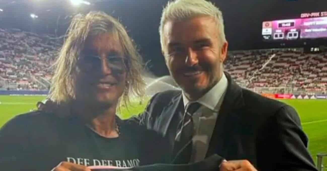 el divertido cruce entre Claudio Caniggia y David Beckham DEPORTES