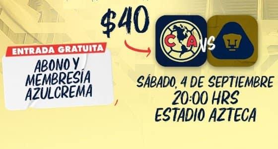 America vs Pumas EN VIVO Hora Canal Donde ver Jornada