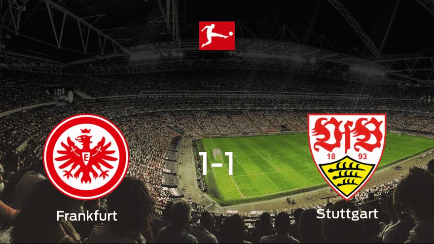 El Eintracht Frankfurt y el Stuttgart se reparten los puntos