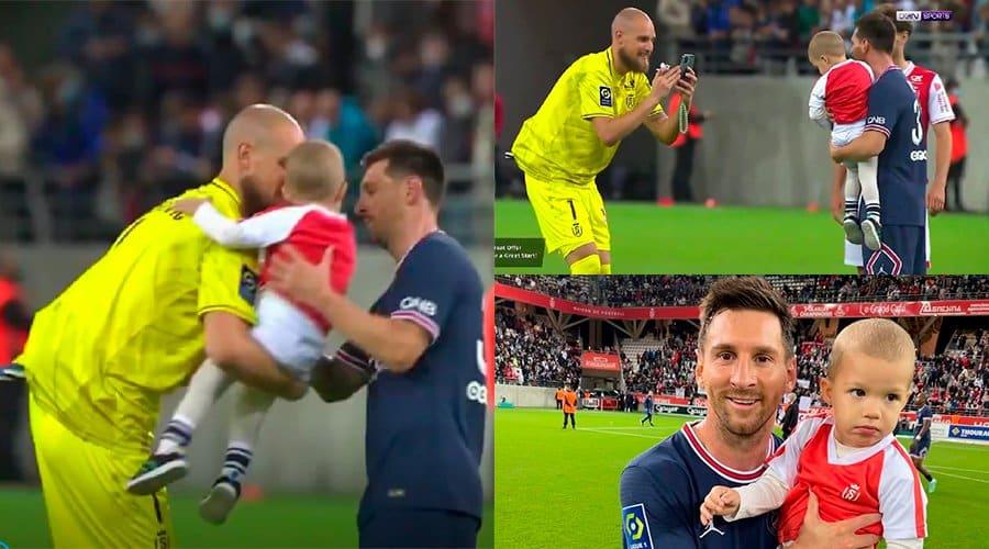 El momento mas tierno del historico debut de Lionel Messi