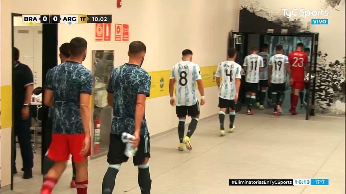 Escandalo suspenden el partido entre Brasil y Argentina