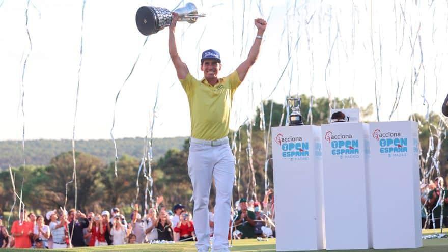 Rafa Cabrera Bello triunfa en el Open de Espana tras