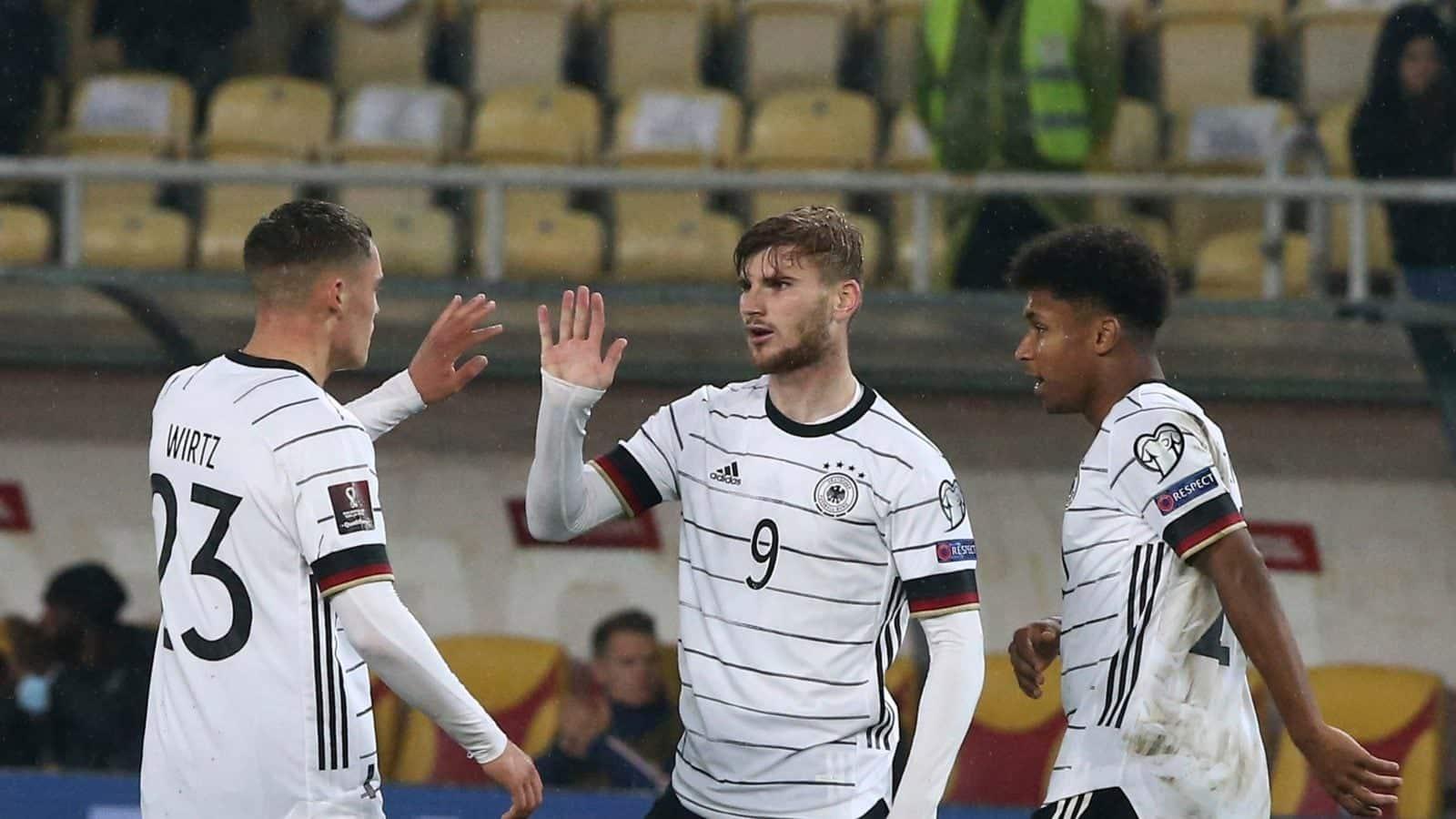 Timo Werner Double ve a Alemania convertirse en el primer
