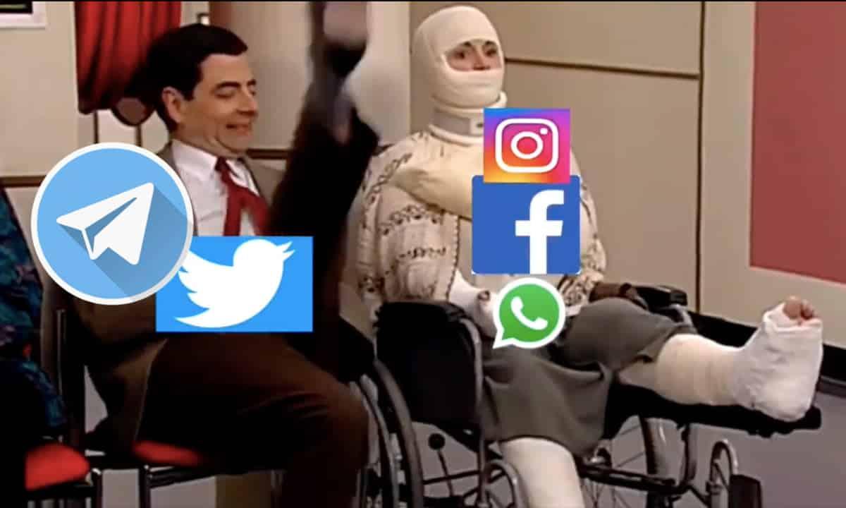 telegram se cayo whatsapp memes twitter